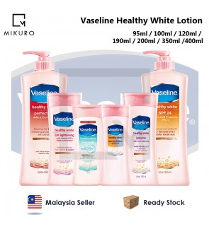 Vaseline Healthy White Body Lotion UV Lightening / SPF24 / Fresh & Fair / Sun + Pollution / Insta Fa