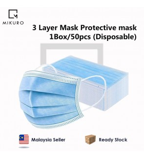 Face Disposable Mask 3 layer 1box/50pcs