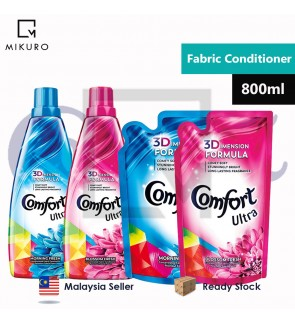 Comfort Ultra Concentrated Fabric Conditioner Refill Pouch & Bottle 800ml