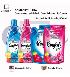 COMFORT ULTRA Concentrated Fabric Conditioner Softener Refill Pouch & Bottle 800ml