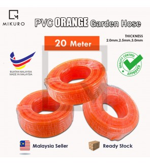 High Quality 20meter PVC Garden Chemi Hose Orange Pipe 2mm/2.5mm/3.0mm