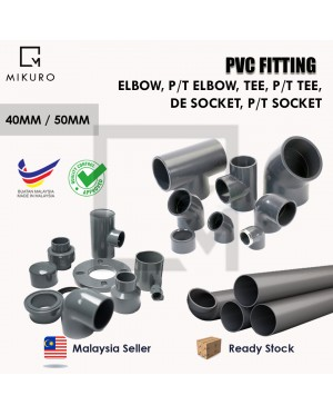 PVC Equal Injection Fitting for Pleasure Connector Pipe 40MM/50MM