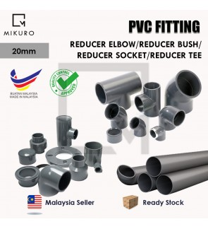 PVC Reducer/20mm Injection Fitting for Pleasure Connector Pipe Elbow/Tee/Bush/Socket