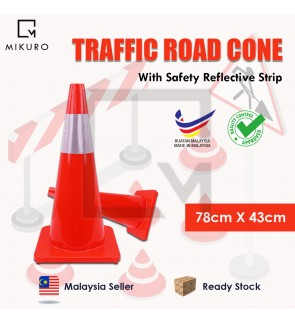 74cm reflective ice cream barrel warning cone road barrier traffic safety cone