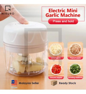 Rechargeable Mini Electric Food Chopper Portable Garlic Vegetable Food Grinder Kitchen Tools (RANDOM