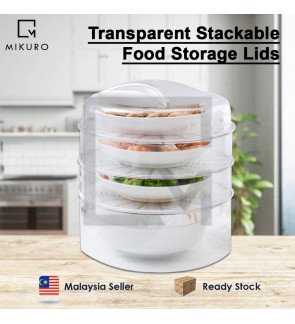 Transparent Stackable Food Cover Refrigerator Food Fresh Cover Dust-proof Multi-Function Food Storag
