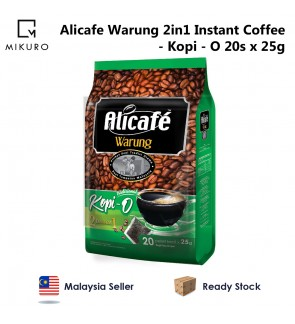 Alicafe Warung 2 in 1 Instant Coffee - Kopi O (25gm x 20pcs)