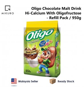 Oligo Chocolate Malt Drink Hi-Calcium With Oligofructose Refill Pack (950g)