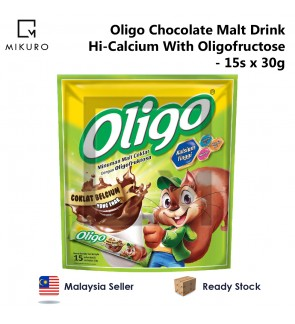 Oligo Chocolate Malt Drink Hi-Calcium With Oligofructose (30g x 15's)