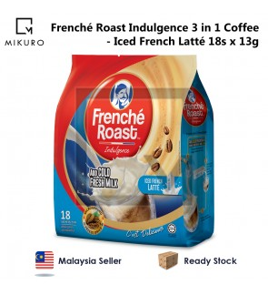 Frenche Roast Indulgence 3 in 1 Coffee - Iced French Latté (13g X 18 Sachets)