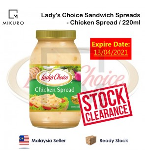 !!STOCK CLEARANCE!! Lady's Choice Sandwich Spreads 220ml - Chicken Spread *Expire On 13/04/2021*