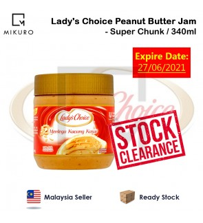 !!STOCK CLEARANCE!! Lady's Choice Peanut Butter Jam / Super Chunk 340g