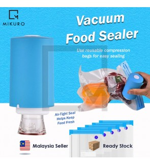Rechargeable Mini Seal Vacuum Bag Food Storage Travel Luggage Compress Seal Vac