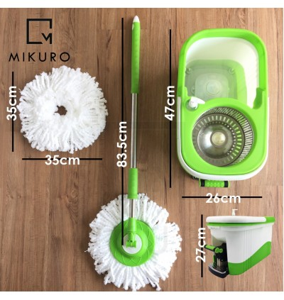High Quality 360° Spin Stainless Steel Mop Bucket With Foot Pedal