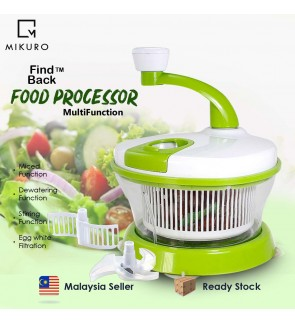 4 IN 1 Multifunction Food Processor Manual Chopper Mixer Salad knife Maker