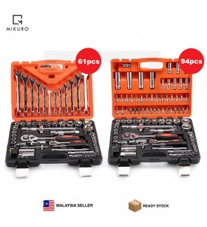 94pcs & 61pcs Socket Screwdriver Bit Tool Ratchet Driver Combination Wrench Set