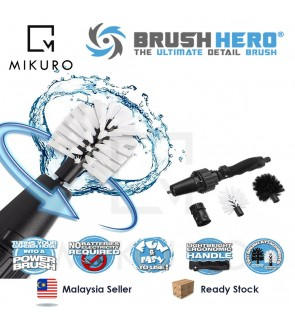 Brush Hero Wheel Brush Premium Water Powered Turbine For Rims Engines Bikes Cleaner Brush