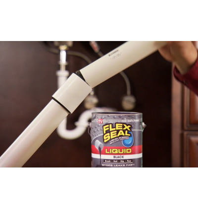 Flex Seal Liquid Rubber Sealent Coating Black / White Color 16 Oz (473ml) In A Can