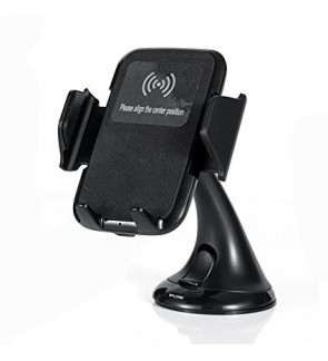 Wireless QI Fast Charging Car Vehicle Dock Phone Holder Android iOS