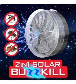 Portable Solar Powered Buzz UV Lamp Fly Insect Bug Mosquito Killer