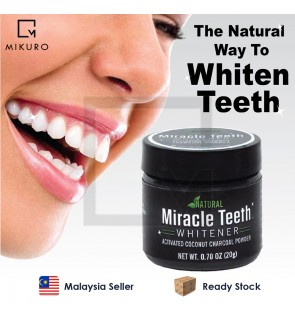 20g Miracle Teeth Black Activated Carbon Teeth Cleaning Powder Miracle Teeth Natural Activity Clean