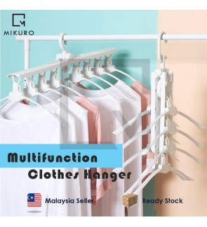 Multifunctional 8in1 magic hanger plastic folding magic changeable storage clothes rack clothes rack