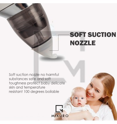 Rechargeable Electric Baby Nasal Aspirator Nose Cleaner Snot Sucker Nasal Suction Machine
