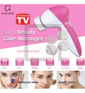 5 In 1 Face Cleanser Beauty Care Massager Fashion Cleanser Face Brush Dead Skin Remover Beauty Care Tool (RANDOM COLOR)