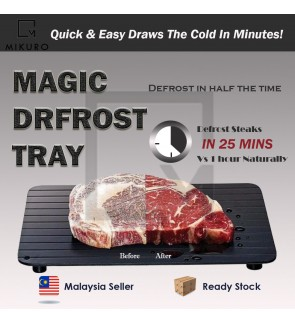 Defrost Express Defrosting Meat Tray Miracle Aluminium Thawing Plate Board Mat