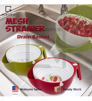 Double Drain Basket Bowl Washing Useful High Quality Kitchen Strainer Noodle Vegetable Fruit Storage Kitchen Tools Basket