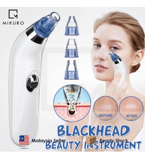 Pore Cleaner Acne Blackhead Facial Removal Vacuum 4 Suction Head Machine Skin Care Tool Face Cleaning Blackhead Remover