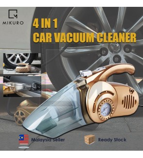 4 in 1 Car Vacuum Cleaner high-power multifunctional washable dry wet dual purpose vehicle vacuum cleaner inflator pump
