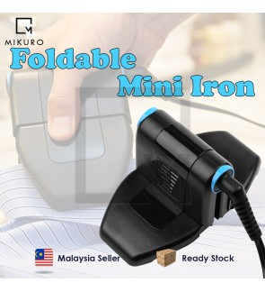 6 Speed Adjustment Folding Portable Iron Compact Press Up and Perfect Foldable Travel Iron Foldable Mini Iron EU Plug