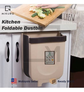 Dustbin Foldable Trash Can Kitchen Hanging Plastic Rubbish Waste Bin  Bathroom Toilet Garbage Bag Container