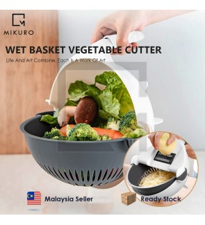 7 In 1 Vegetable Cutter With Drain Basket Kitchen Shredder Grater Slicer Magic Multifunctional Rotate Vegetable Cutter